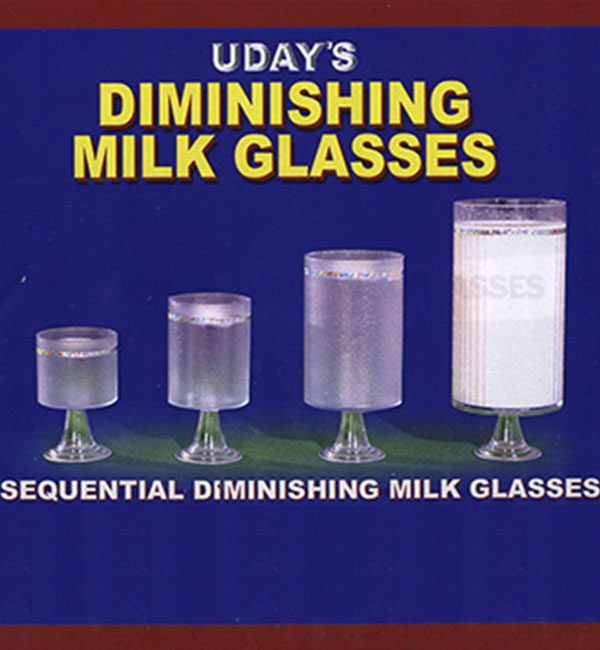 DIMINISHING MILK GLASSES