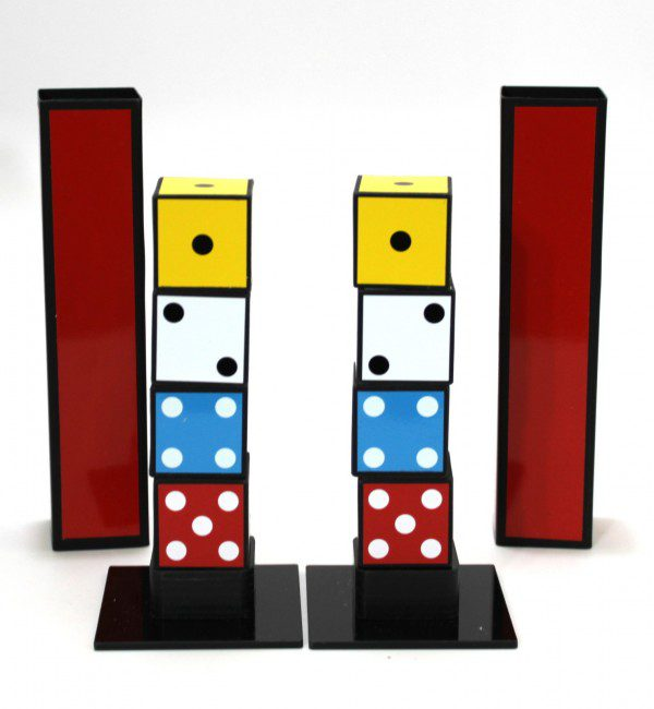 Twin Dice Towers by Joker Magic